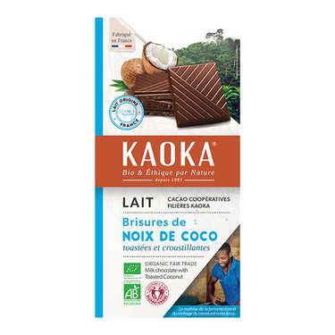 Tablette de chocolat au lait 32% à la noix de coco bio