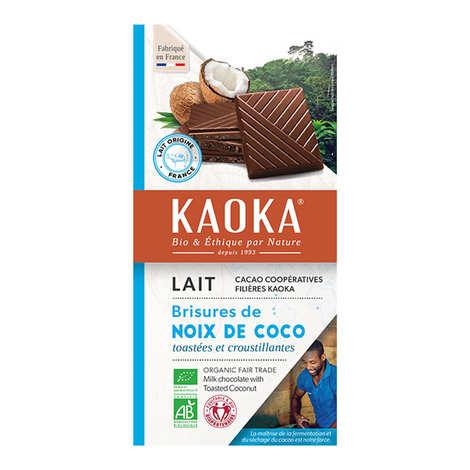 Kaoka - Tablette de chocolat au lait 32% à la noix de coco bio