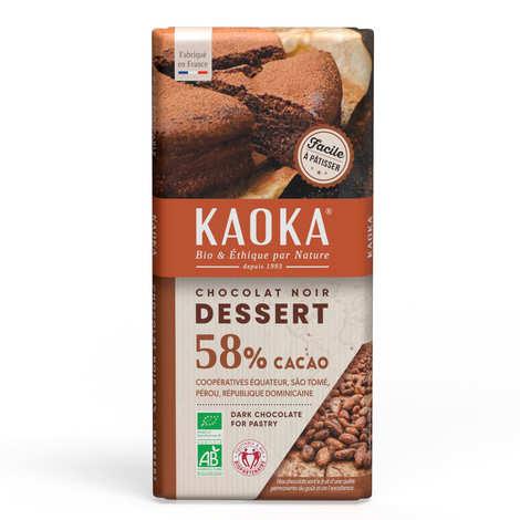Kaoka - Tablette de chocolat dessert noir 55%