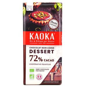 Kaoka - Tablette de chocolat dessert noir corsé 70% bio