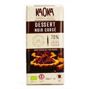 Tablette de chocolat dessert noir corsé 70% bio