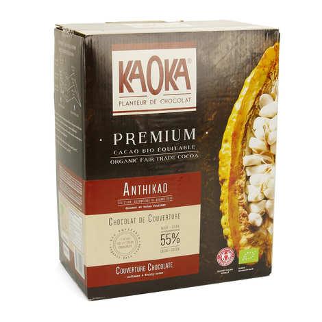 Kaoka - Palets de chocolat noir 58% bio - Chocolat de couverture