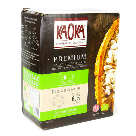 Kaoka - Organic Black Chocolate Couverture 66% - Sao Tomé