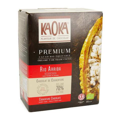 Kaoka - Palets de chocolat noir Equateur 72% bio - Chocolat de couverture