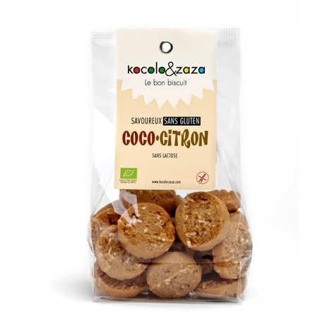 Biscuiterie Kocolo et zaza - Biscuits coco citron bio sans gluten et sans lactose