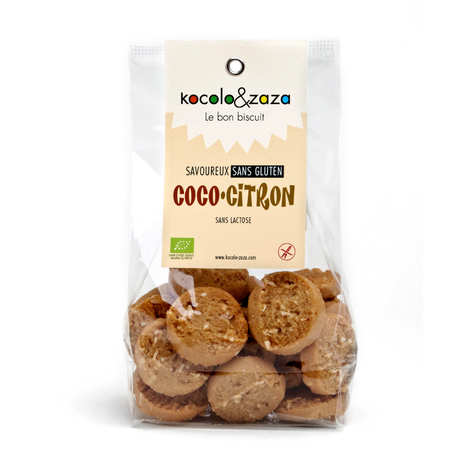 Biscuiterie Kocolo et zaza - Organic Coconut and Lemon Biscuits - Gluten and Lactose Free