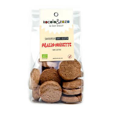Biscuits pralin noisette bio sans gluten et sans lactose