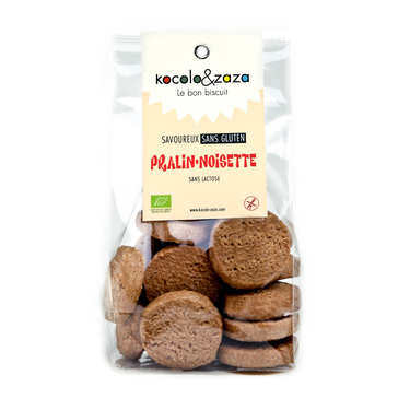Organic Praline and Hazelnut Biscuits - Gluten and Lactose Free