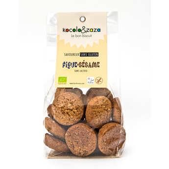 Biscuiterie Kocolo et zaza - Biscuit figues sésame bio sans gluten et sans lactose