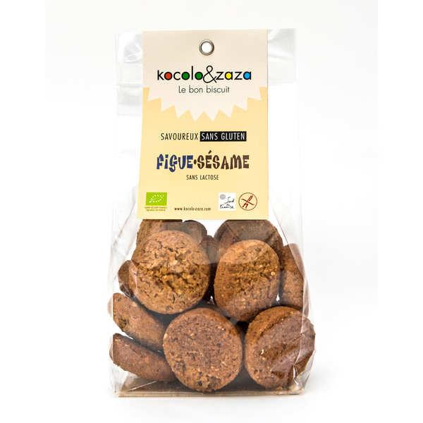 Biscuit figues sésame bio sans gluten et sans lactose