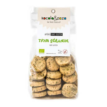 Biscuiterie Kocolo et zaza - Organic Salted Biscuits with Thyme - Gluten and Lactose Free