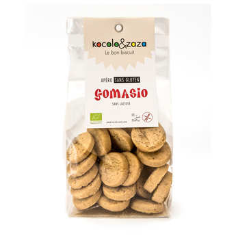 Biscuiterie Kocolo et zaza - Biscuits salés au gomasio bio sans gluten et sans lactose