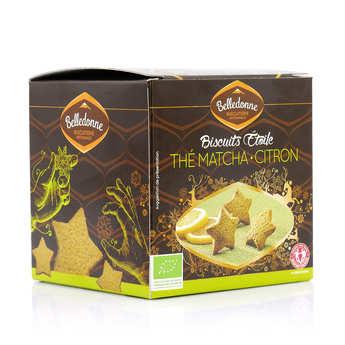 Belledonne Chocolatier - Sablés étoilés au thé vert matcha et citron bio