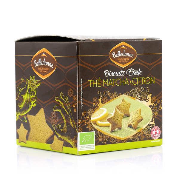 Sablés étoilés au thé vert matcha et citron bio