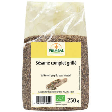 Organic toasted whole wheat sesame