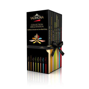 Valrhona - Coffret collection dégustation Valrhona (8 tablettes)
