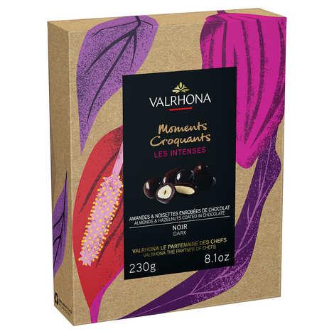 Valrhona - Coffret amandes et noisettes au grand cru chocolat noir - Valrhona