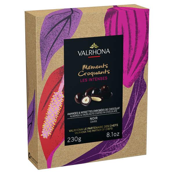 Coffret amandes et noisettes au grand cru chocolat noir - Valrhona