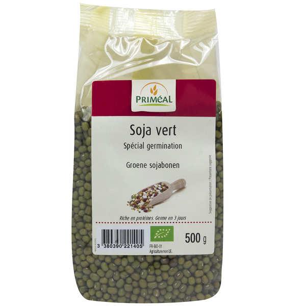 Organic green soya beans