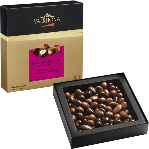 Almond and Hazelnut with Grand Cru Dark and Milk Chocolate - Valrhona