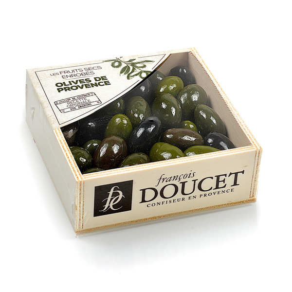 Wooden Gift Box of Olives from Provence by François Doucet