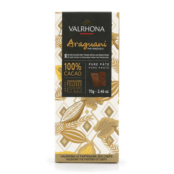 Bar of Dark Chocolate Araguani Pure Venezuela 72% - Valrhona