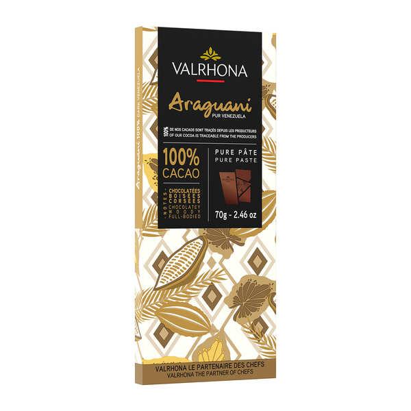 Tablette de chocolat noir Araguani Pur Venezuela 72% - Valrhona