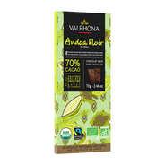 Valrhona - Tablette de chocolat noir Andoa noire 70% - Valrhona