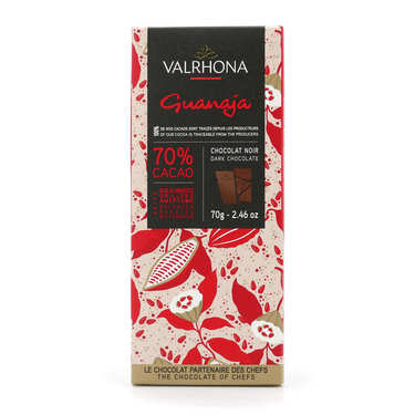 Bar of Dark Chocolate Guanaja 70% - Valrhona
