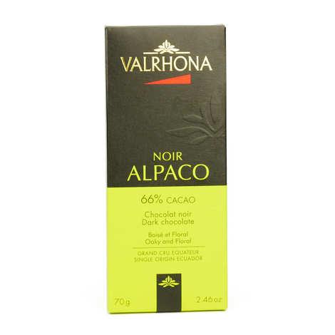 Valrhona - Tablette de chocolat noir Alpaco Pur Equateur 66% - Valrhona