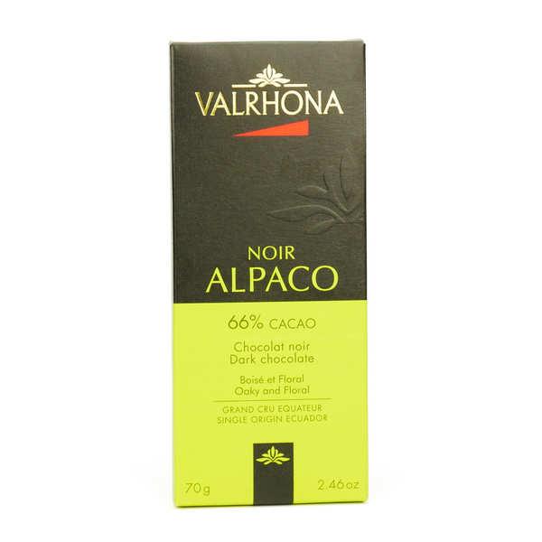 Bar of Dark Chocolate Alpaco Pure Ecuador 66% - Valrhona