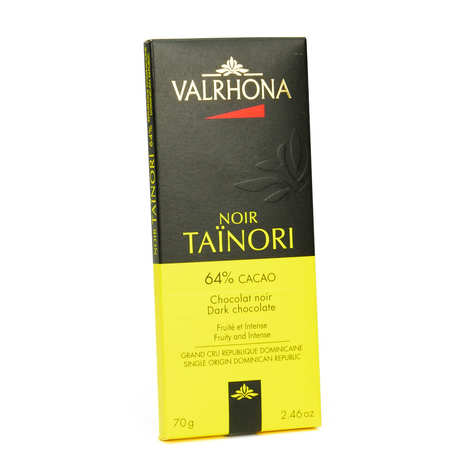 Valrhona - Tablette de chocolat noir Taïnori Pur République Dominicaine 64% - Valrhona