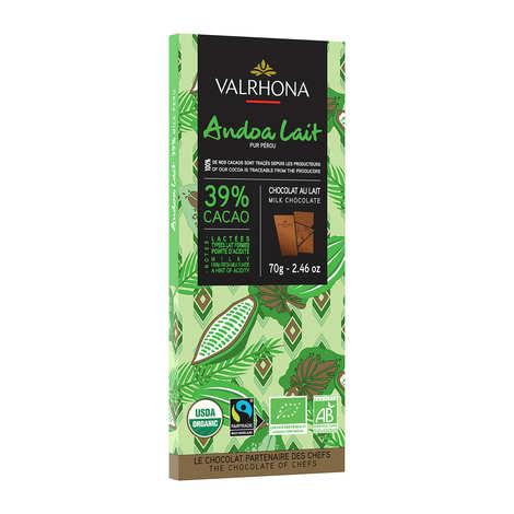 Valrhona - Bar of Milk Chocolate Andoa lactée 39% - Valrhona