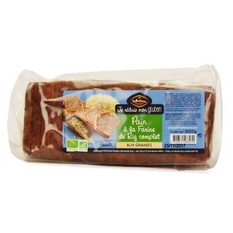 Belledonne Chocolatier - Organic Sliced Wholegrain Rice Bread with Seeds