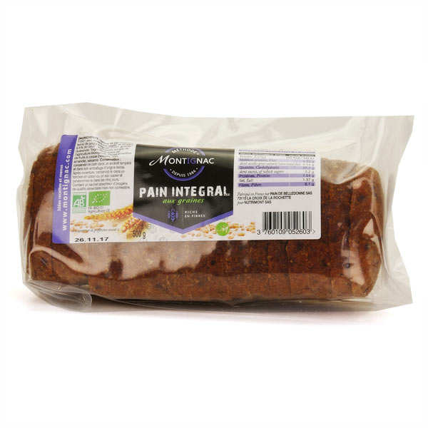 Organic Sliced Integral Bread  with Seeds- Montignac