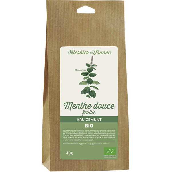 Infusion menthe douce bio
