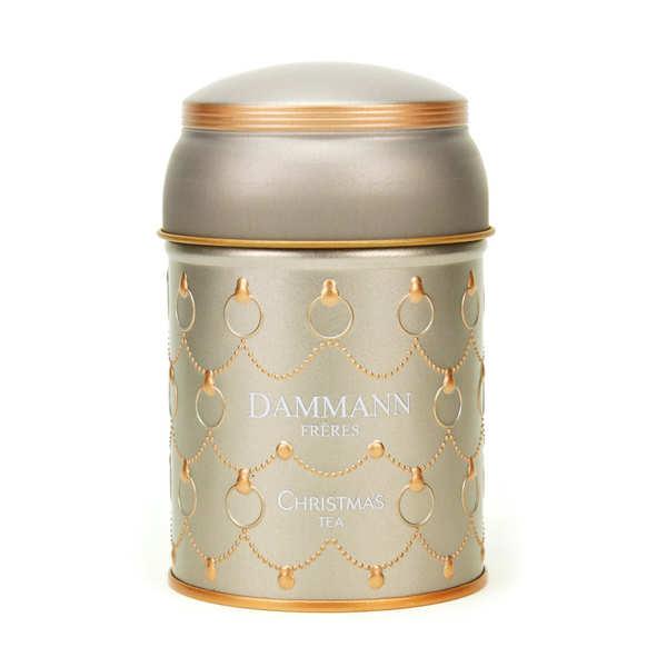 Christmas White Tea Metal Box - Dammann Frères