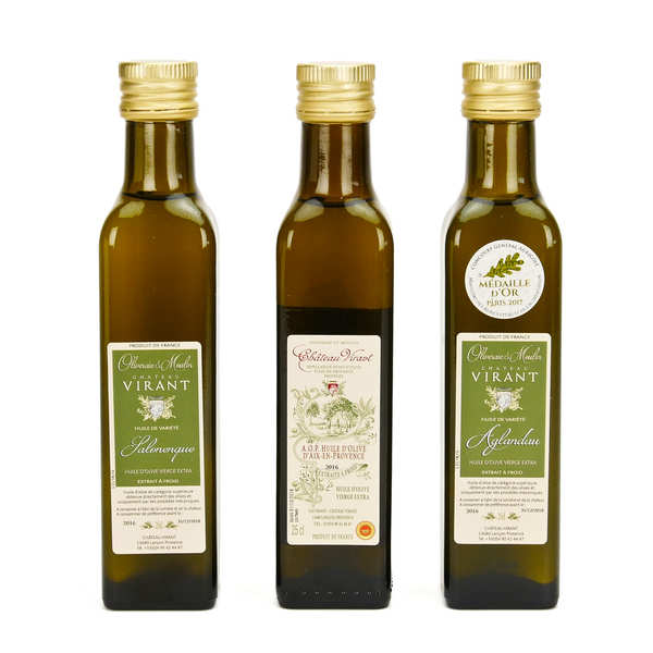3 Olive Oil Discovery Box by Château Virant