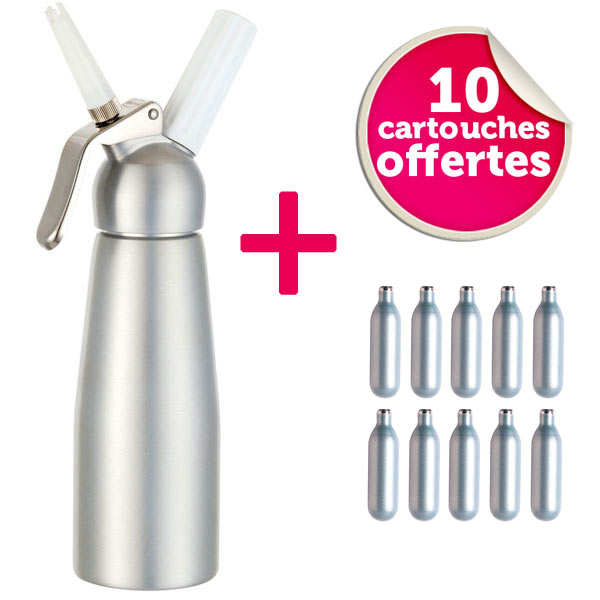 Mousse and sauce dispenser + 10 cartridges free of charge