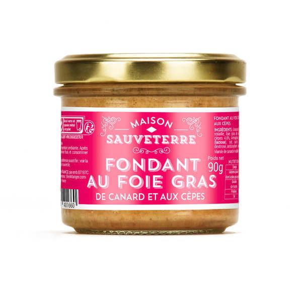Fondant au foie de canard et aux cèpes (20% foie gras) - 3 verrines de 90g