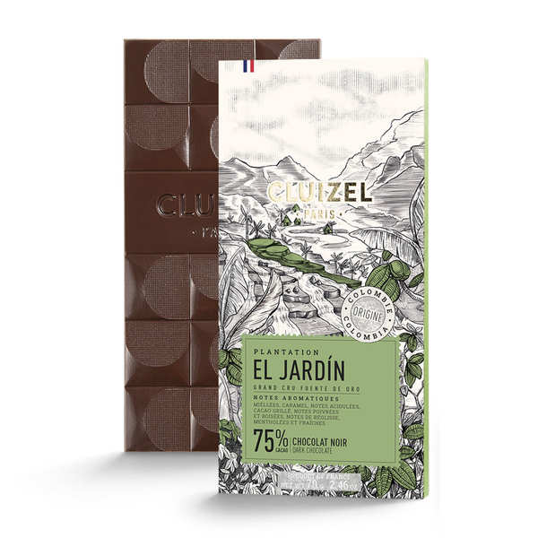 Dark Chocolate Bar El Jardin 69% by Michel Cluizel