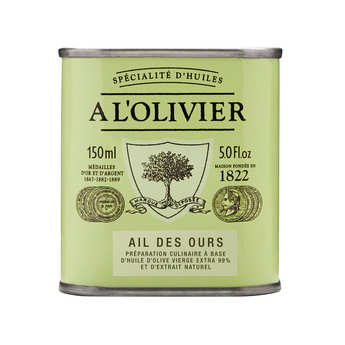 A L'Olivier - Huile d'olive vierge extra à l'ail des ours