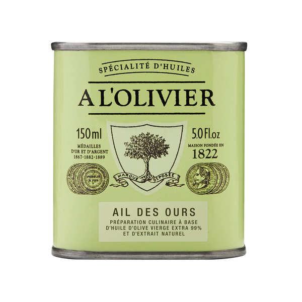 Huile d'olive vierge extra à l'ail des ours