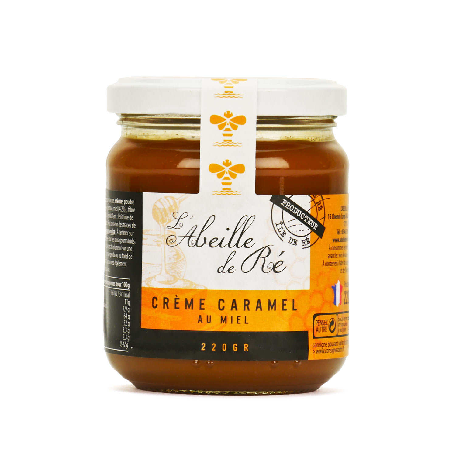 Caramel Cream with Honey from Charente Maritime