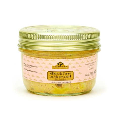 Foie gras GA BESSE - Rillettes de canard au foie de canard 30% de foie gras