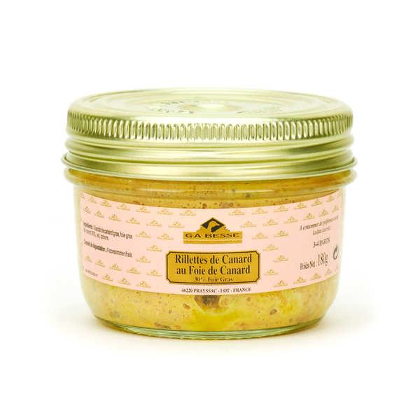 Rillettes de canard au foie de canard 30% de foie gras