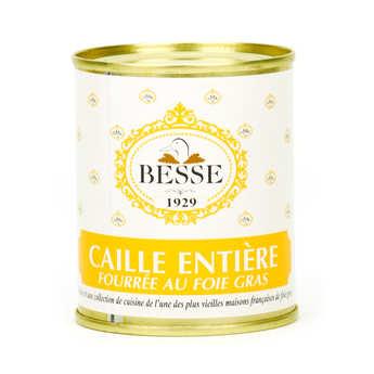 Foie gras GA BESSE - Caille entière fourrée au foie gras 30% de foie gras
