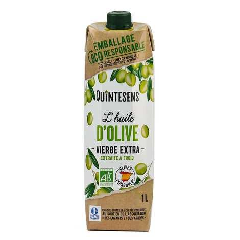 Quintesens - Huile d'olive vierge extra bio en tetra pak®