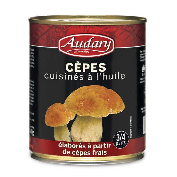 Cèpes frais cuisinés à l'huile