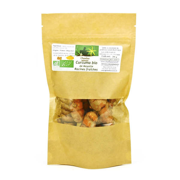 Organic Fresh Turmeric Roots from Mayotte